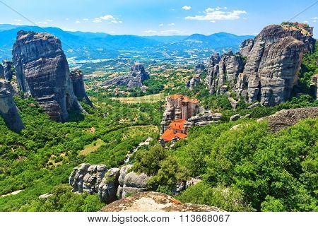 The Holy Monastery Of Rousanou-st. Barbara.