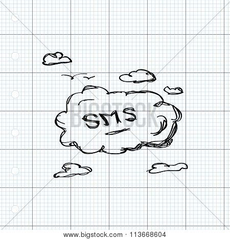 Simple Doodle Of An Sms