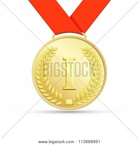 Gold Medal. Stock Illustration.