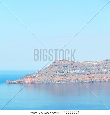 Horizon Detail Outdoor  Summer  In The Coastline  And Light Ocean White Sky