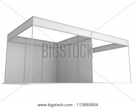 Trade Show Booth Box. 3D White And Blank.