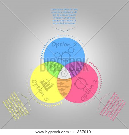 circle origami infographic template