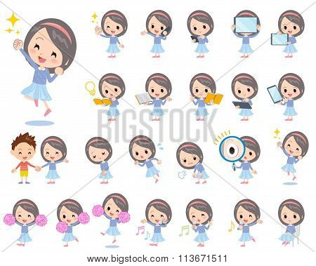 Blue Clothes Headband Girl 2