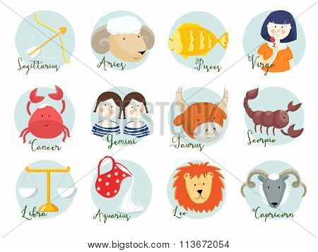 Raster horoscope signs