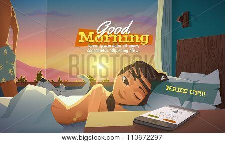 Good morning, lady wake up