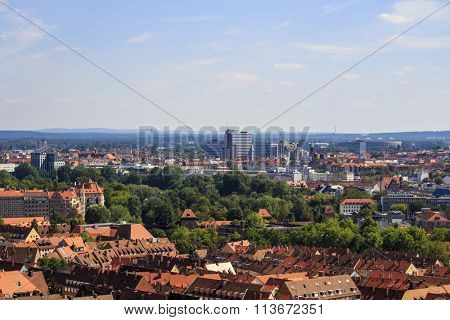 View On Nuremberg From The Imperial Castle, Germany, 2015
