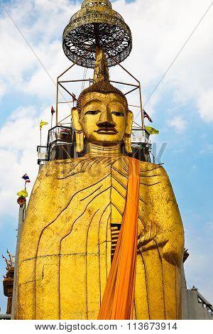 Sculpture Of Big Buddha In Bangkok