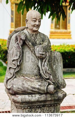 Sculpture Of Thai Monk