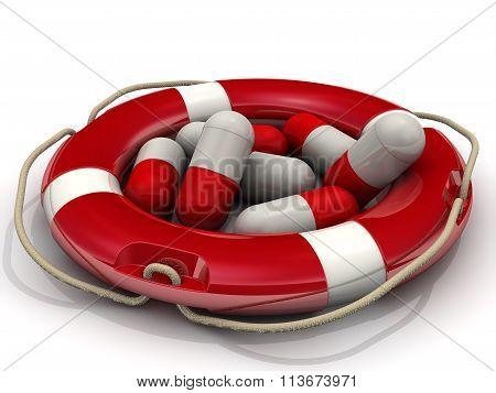 Rescue pills. Concept