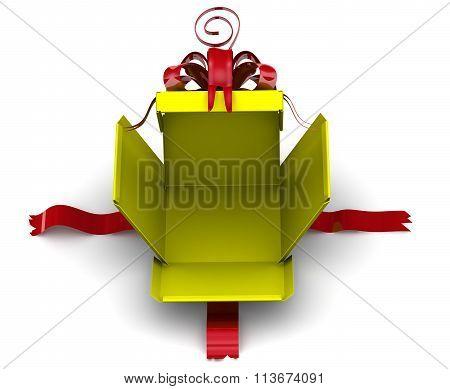 Disassembled gift box