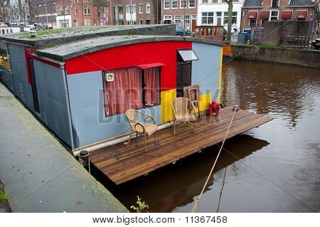 Houseboat With Small Terrace