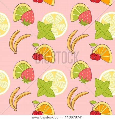 seamless pattern from fruit