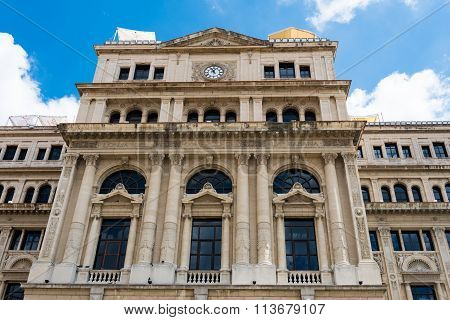 Former Stock Exchange Building in Havana,Cuba