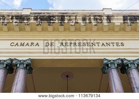 Former House of Representatives of Cuba till 1929
