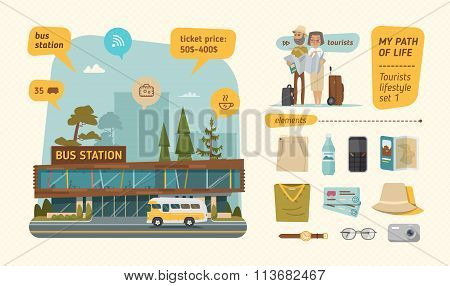 Bus station information
