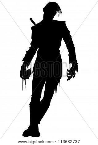 Zombie Men Silhouette
