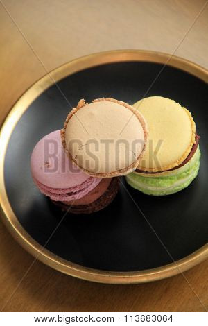 Delicious flavors of macaroons