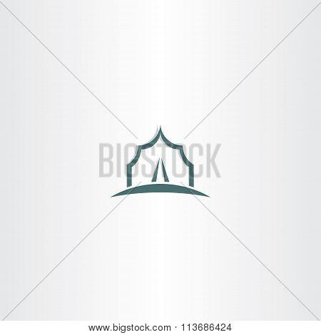 Vector Tent Icon Logo Symbol