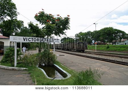 Victoria Falls station in Zambia Africa