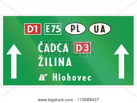 Road Sign Used In Slovakia - Road Sign Used In Slovakia - Signal At Level Crossings