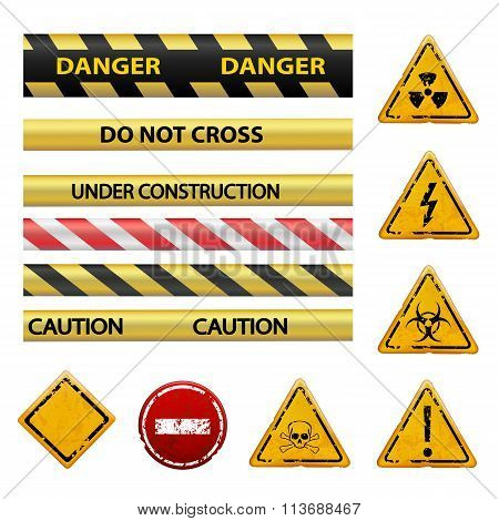 Warning Signs. Stock Illustration.