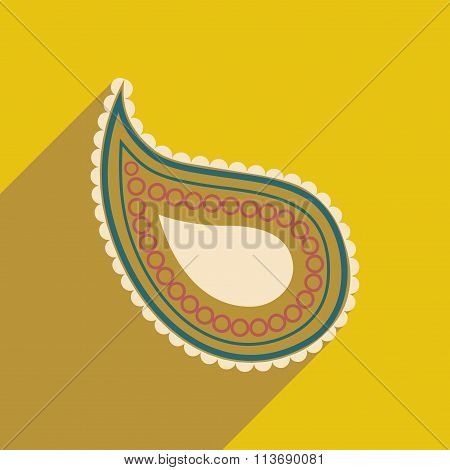 Modern flat icon with long shadow Indian cucumber