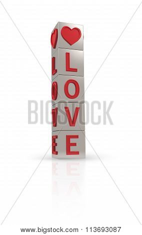 Metal Banner With The Word Love