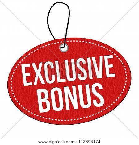 Exclusive Bonus Label Or Price Tag
