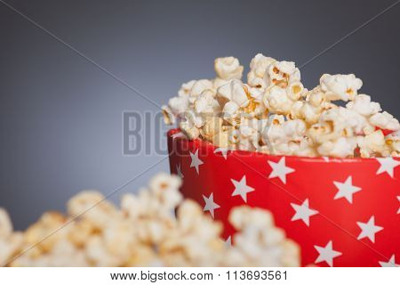 Popcorn  In Front Of A Star Box