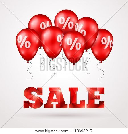 Sale Poster. Vector illustration