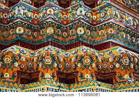 Ceramic Decorative Elements Of The Buddhist Temple