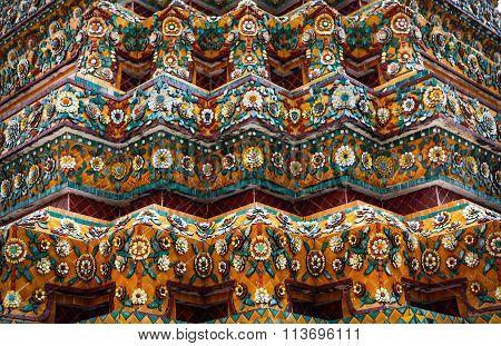 Ceramic Decorative Elements Of A Buddhist Temple
