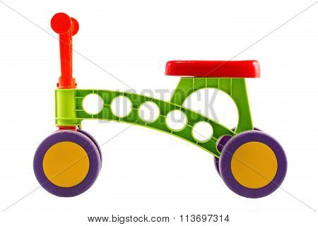 Tricycle - Child Pedal Wheel Cycling Bicycle Toy Isolated On White