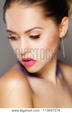 Studio portrait of a beautiful young woman