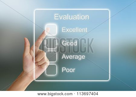 Hand Pushing Evaluation On Virtual Screen