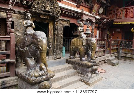 Nepal-patan Durbar Square One Of The Main Sights Of The Kathmandu Valley