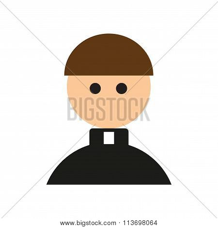 Flat web icon on white background - Priest