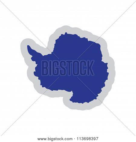 Flat web icon on white background map Arctic