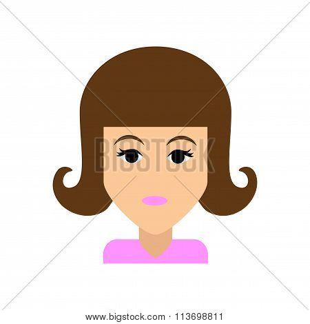 Flat web icon on white background  women's haircut