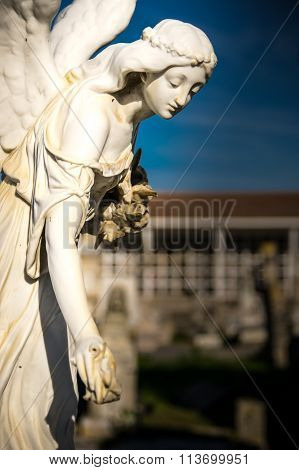 Statue In The Cemetery