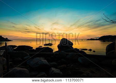 Sunrise On The Coast Of The Koh Tao