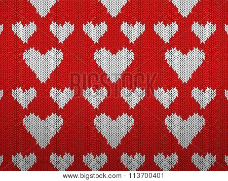Knitted Pattern Hearts