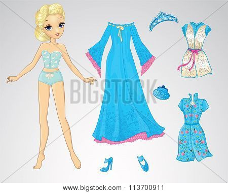 Paper Snow Queen Doll