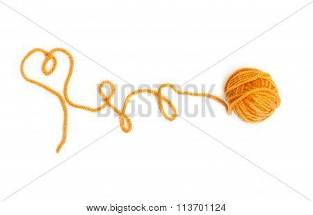 Skein Of Wool Yarn Yellow Color