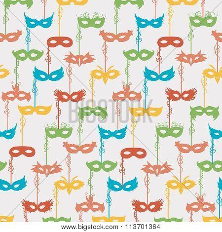 seamless pattern of carnival masks