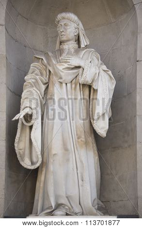 Sculpture At The Palace Of The Generalitat (palau De La Generalitat)