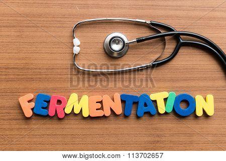 Fermentation Colorful Word