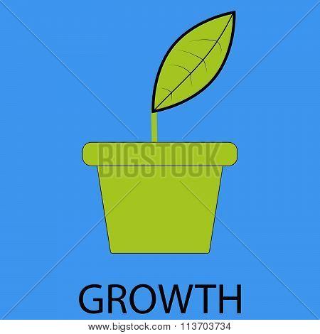 Growth icon flat design