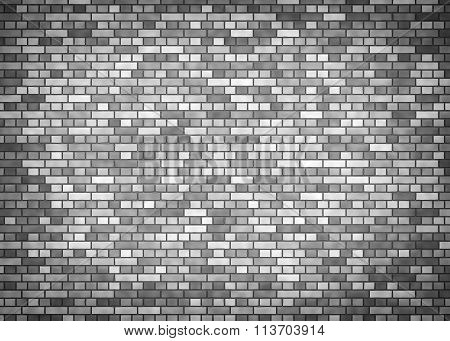 Grey brick wall.