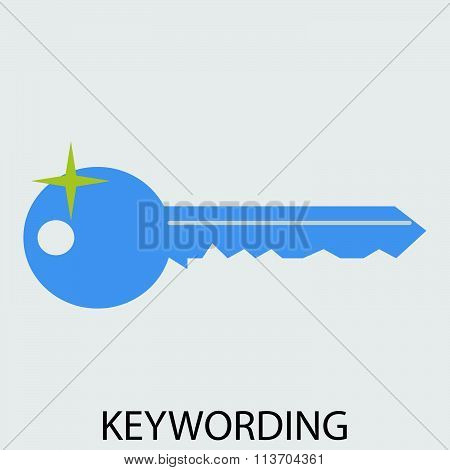 Keywording icon flat design